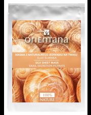 Orientana Maska z naturalnego jedwabiu na twarz śluz ślimaka